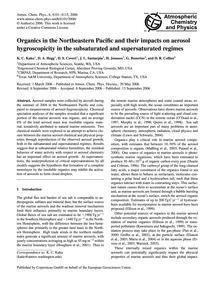 Organics in the Northeastern Pacific and... by Kaku, K. C.
