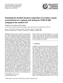 Simulating the Detailed Chemical Composi... by Johnson, D.