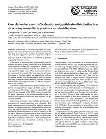 Correlation Between Traffic Density and ... by Voigtländer, J.