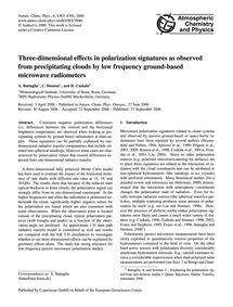 Three-dimensional Effects in Polarizatio... by Battaglia, A.