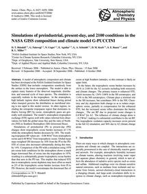 Simulations of Preindustrial, Present-da... by Shindell, D.&Nbsp;T.