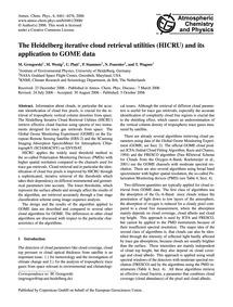 The Heidelberg Iterative Cloud Retrieval... by Grzegorski, M.