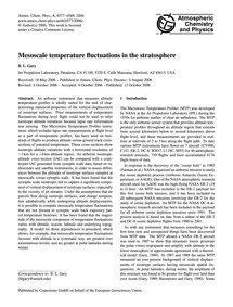 Mesoscale Temperature Fluctuations in th... by Gary, B. L.