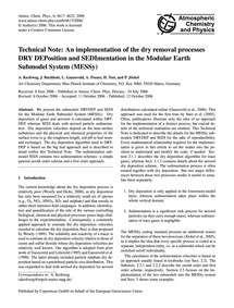 Technical Note: an Implementation of the... by Kerkweg, A.