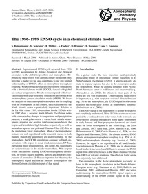 The 1986–1989 Enso Cycle in a Chemical C... by Brönnimann, S.