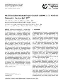 Attribution of Modeled Atmospheric Sulfa... by Benkovitz, C. M.