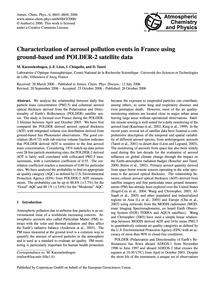 Characterization of Aerosol Pollution Ev... by Kacenelenbogen, M.