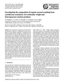 Investigating the Composition of Organic... by Hamilton, J. F.