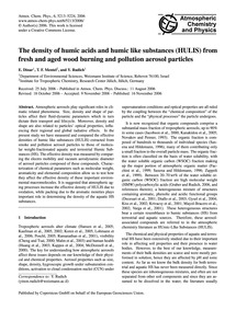 The Density of Humic Acids and Humic Lik... by Dinar, E.