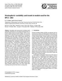 Stratospheric Variability and Trends in ... by Cordero, E. C.