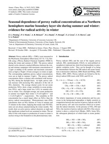 Seasonal Dependence of Peroxy Radical Co... by Fleming, Z. L.