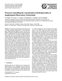 Processes Controlling the Concentration ... by Walker, S. J.