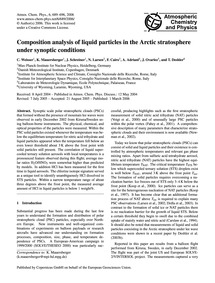 Composition Analysis of Liquid Particles... by Weisser, C.