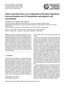 Cluster Activation Theory as an Explanat... by Kulmala, M.