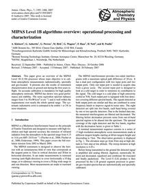 Mipas Level 1B Algorithms Overview: Oper... by Kleinert, A.