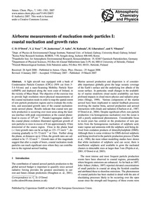 Airborne Measurements of Nucleation Mode... by O'Dowd, C. D.