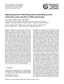 Optical Properties of Absorbing and Non-... by Abo Riziq, A.