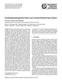 Geochemical Perspectives from a New Aero... by Guinot, B.