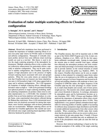 Evaluation of Radar Multiple Scattering ... by Battaglia, A.
