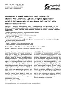 Comparison of Box-air-mass-factors and R... by Wagner, T.