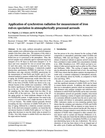 Application of Synchrotron Radiation for... by Majestic, B. J.