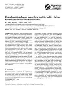 Diurnal Variation of Upper Tropospheric ... by Chung, E. S.