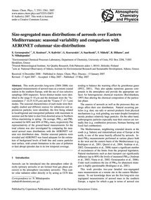 Size-segregated Mass Distributions of Ae... by Gerasopoulos, E.