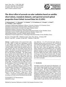 The Direct Effect of Aerosols on Solar R... by Hatzianastassiou, N.