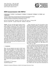 Hdo Measurements with Mipas : Volume 7, ... by Steinwagner, J.