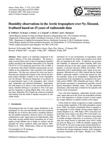 Humidity Observations in the Arctic Trop... by Treffeisen, R.