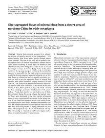 Size-segregated Fluxes of Mineral Dust f... by Fratini, G.
