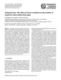 Technical Note: the Effect of Sensor Res... by Krijger, J. M.