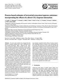 Process-based Estimates of Terrestrial E... by Arneth, A.