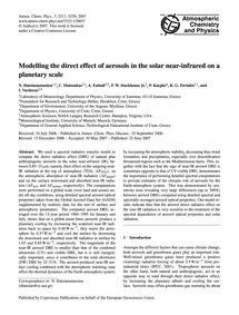 Modelling the Direct Effect of Aerosols ... by Hatzianastassiou, N.
