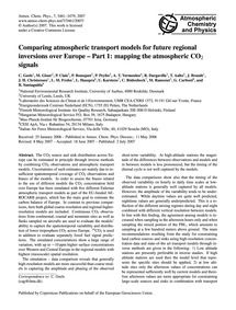 Comparing Atmospheric Transport Models f... by Geels, C.
