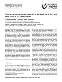 Physical and Optical Aerosol Properties ... by Kusmierczyk-michulec, J.