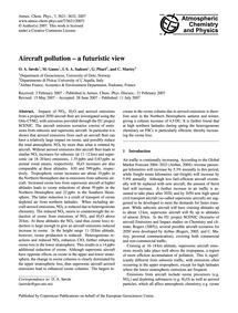 Aircraft Pollution – a Futuristic View :... by Søvde, O. A.