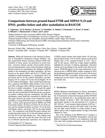 Comparisons Between Ground-based Ftir an... by Vigouroux, C.