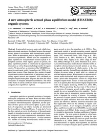 A New Atmospheric Aerosol Phase Equilibr... by Amundson, N. R.