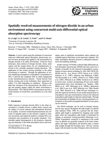 Spatially Resolved Measurements of Nitro... by Leigh, R. J.