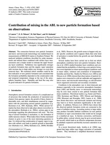 Contribution of Mixing in the Abl to New... by Lauros, J.