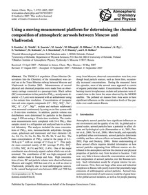 Using a Moving Measurement Platform for ... by Kuokka, S.