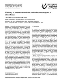 Efficiency of Immersion Mode Ice Nucleat... by Marcolli, C.