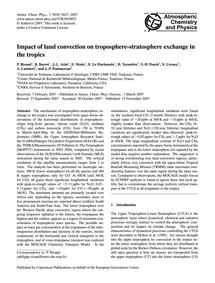 Impact of Land Convection on Troposphere... by Ricaud, P.