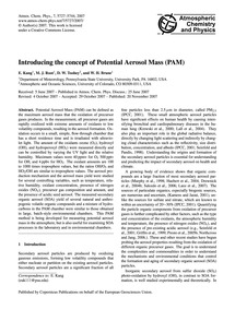 Introducing the Concept of Potential Aer... by Kang, E.