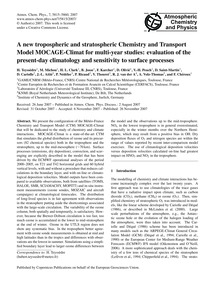 A New Tropospheric and Stratospheric Che... by Teyssèdre, H.