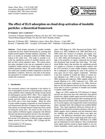 The Effect of H2O Adsorption on Cloud Dr... by Sorjamaa, R.