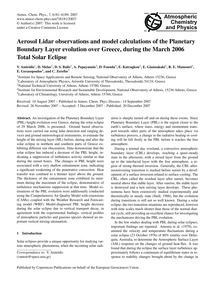 Aerosol Lidar Observations and Model Cal... by Amiridis, V.