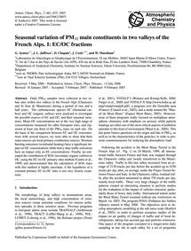 Seasonal Variation of Pm10 Main Constitu... by Aymoz, G.