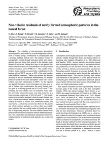 Non-volatile Residuals of Newly Formed A... by Ehn, M.
